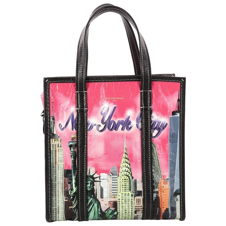Balenciaga Bazar Convertible AJ Tote Printed Leather Small