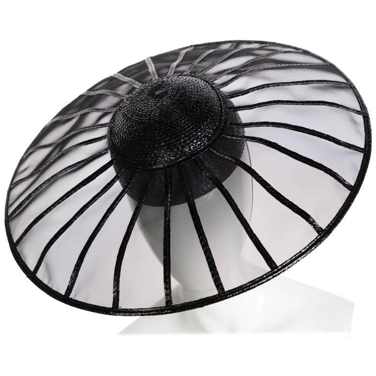 Yves Saint Laurent YSL Couture Collectors Black Hat, 1980s