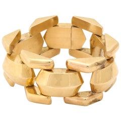 Retro Gold Tank Bracelet