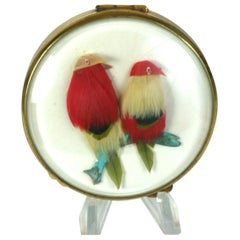 "French ""Pheasants under Glass"" Compact"