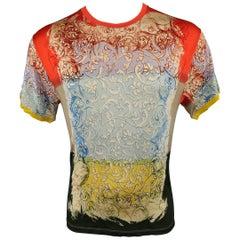 Jean Paul Gaultier Multi-Color Baroque Floral Print T-shirt