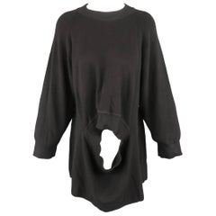 Issey Miyake Black Cotton Knit Transformative Pullover