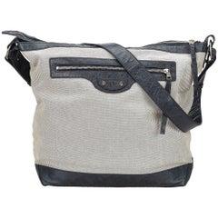Balenciaga Gray x Black Motocross Day Messenger Bag