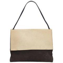 Celine Beige x Dark Gray All Soft Shoulder Bag