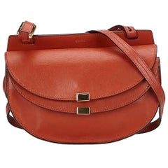 Chloe Brown Leather Georgia Crossbody Bag