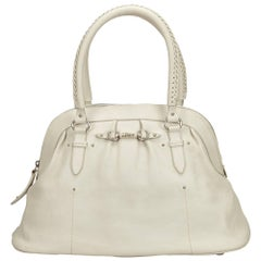 Dior	White Leather Handbag