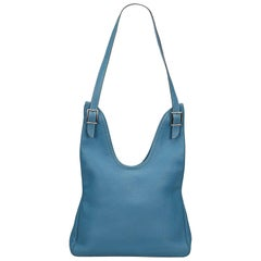 Hermes Blue Togo Leather Massai PM