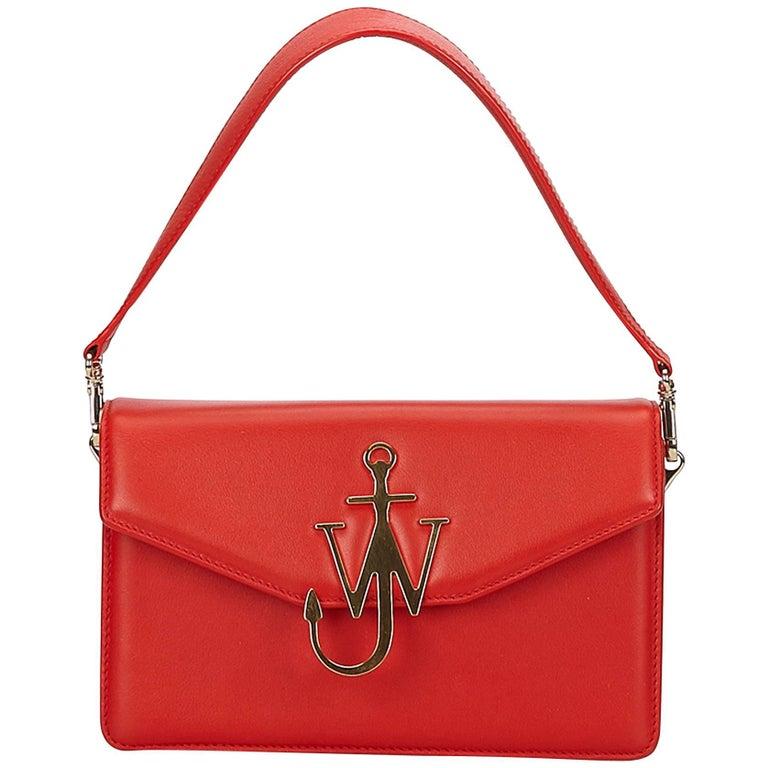 2a6e0ad6f JW Anderson Red Logo Shoulder Bag For Sale at 1stdibs