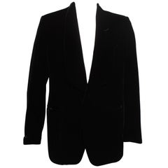 TOM FORD evening cocktail jacket in Black Liquid Silk Velvet
