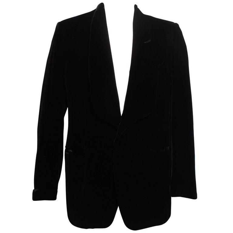 TOM FORD evening cocktail jacket in Black Liquid Silk Velvet