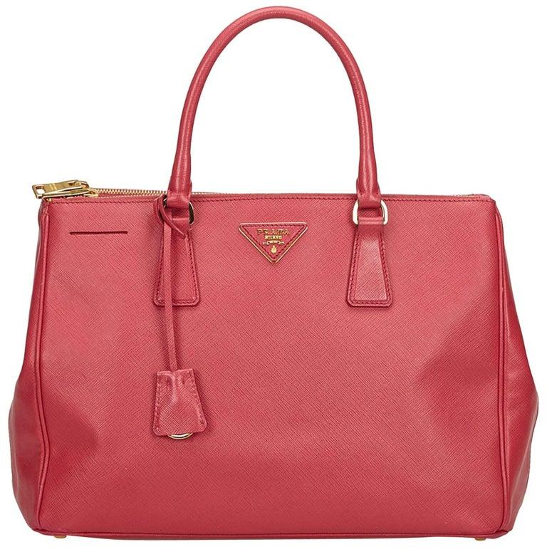 de36eba089c3 Prada Pink Saffiano Leather Galleria Bag at 1stdibs