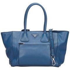Prada Blue Leather Satchel