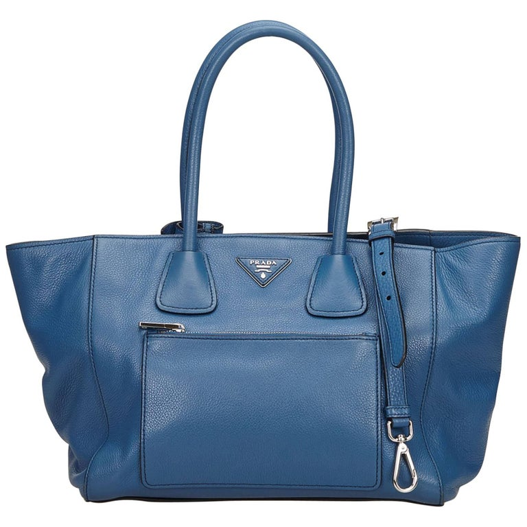 Prada Blue Leather Satchel