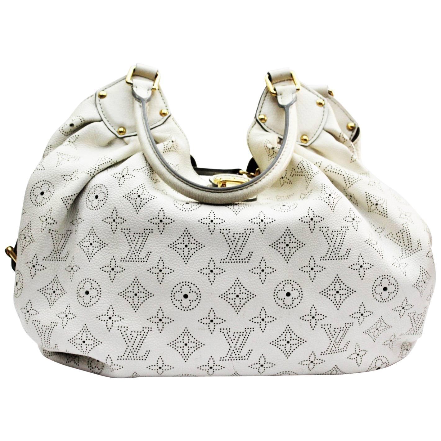 Louis Vuitton White Monogram Mahina L Bag