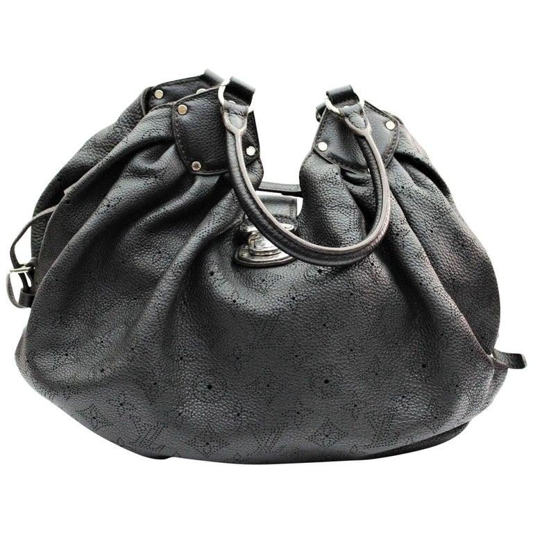 Louis Vuitton Black Monogram Mahina Leather L Bag