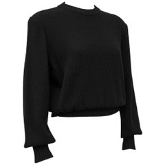 YSL/St. Laurent 1980.s Black Cotton Knit