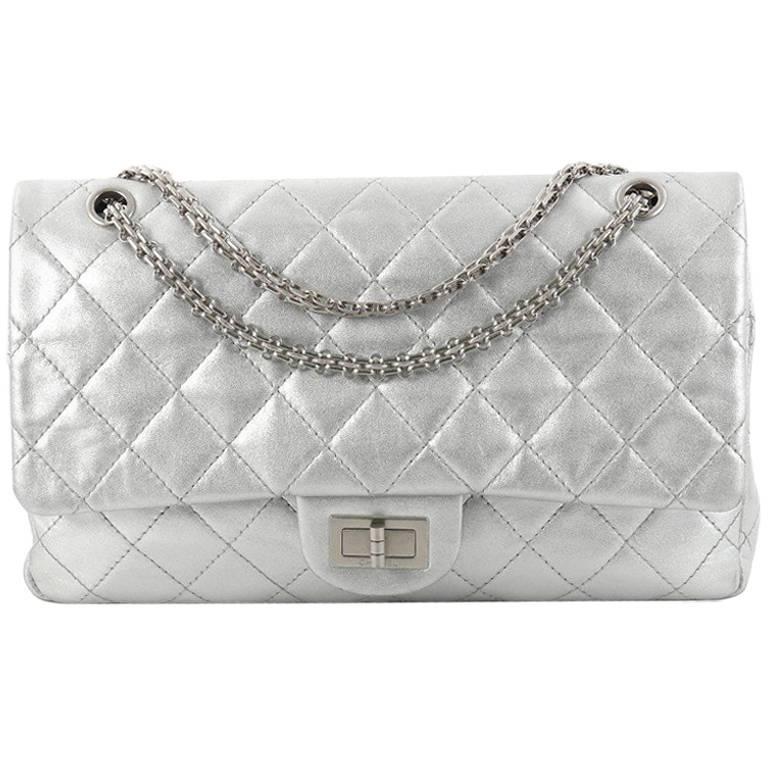 Chanel Reissue 2.55 Handbag Quilted Metallic Calfskin 226