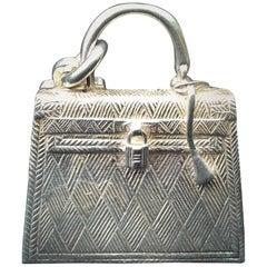 Hermès Key Ring / Holder / Chain Kelly Bag Silver Pendant Charm