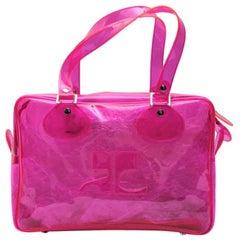 COURRÈGES Bag in Transparent Pink Plexi