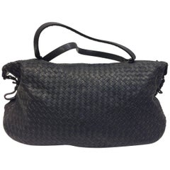 Bottega Veneta Black Woven East West Leather Tote