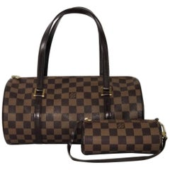 Louis Vuitton Damier Ebene Papillon with Little Pouch Shoulder Handbag