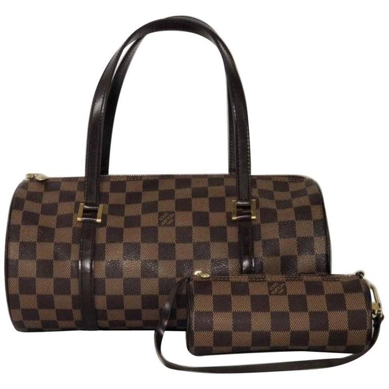 Louis Vuitton Damier Ebene Papillon with Little Pouch Shoulder Handbag