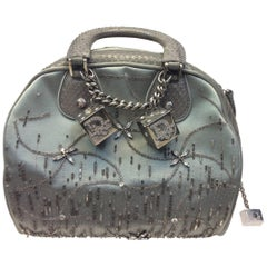 Christian Dior Silver Mini Purse with Charms