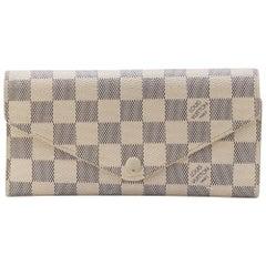 Louis Vuitton Damier Azur Leather Sarah Wallet