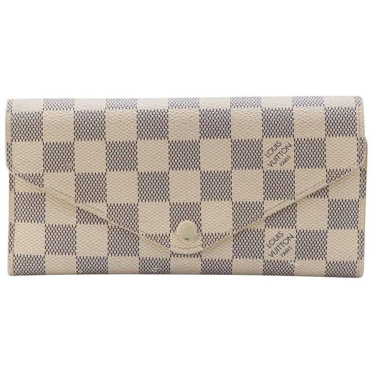fb58a9a4d8796 Louis Vuitton Damier Azur Leather Sarah Wallet At 1stdibs