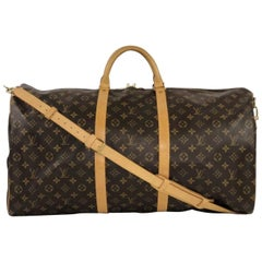 Louis Vuitton Monogram Keepall Bandoliere 60 Travel Handbag