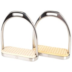 Hermes Stirrup Set Clou de Selle Stainless Steel