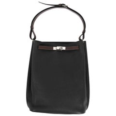 Hermes So Kelly Black Hand Bag
