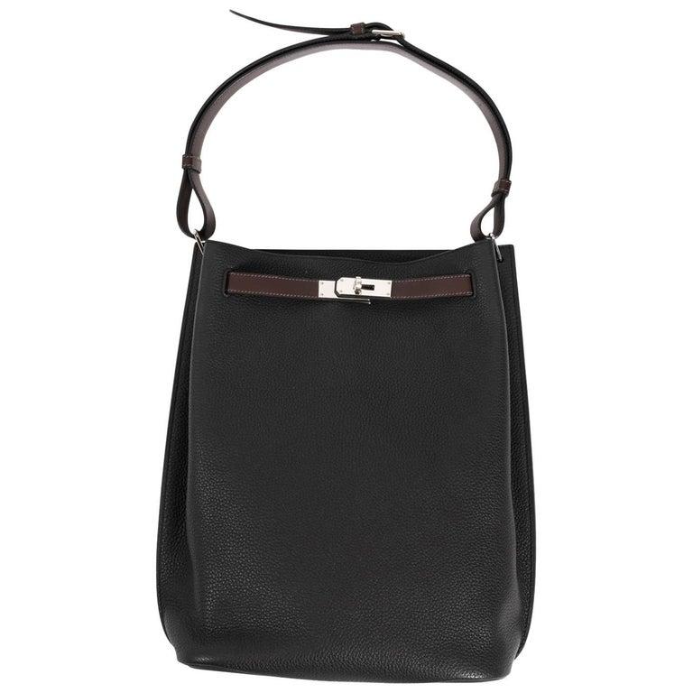 Hermes So Kelly Black Hand Bag