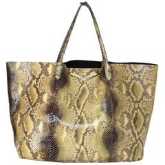 Givenchy Tan Python Snakeskin Antigona Tote Bag