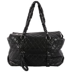 Chanel Ligne Lady Braid Tote Quilted Leather XL