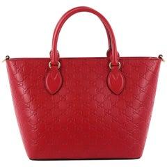 Gucci Signature Convertible Tote Guccissima Leather Medium