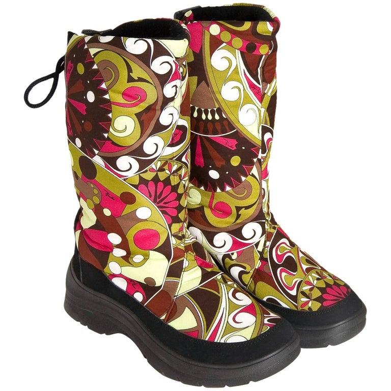 Emilio Pucci Ski Snow Rain Boots