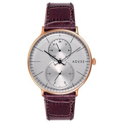 ADEXE Watches Stainless Steel Grey Dial Foreseer Japanese Quartz Wristwatch