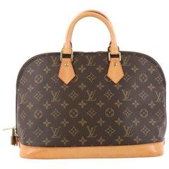 Louis Vuitton Vintage Alma Handbag Monogram Canvas PM