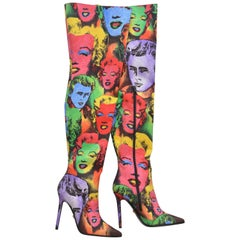 Versace Tribute Andy Warhol Print Boots