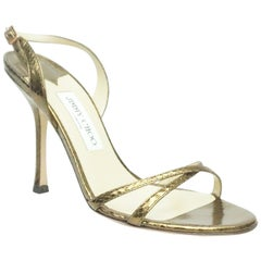e78dddf0fc Jimmy Choo Fearne Taupe Patent Leather Glitter and Criss Cross ...
