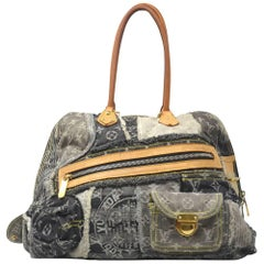Louis Vuitton Denim Patchwork Bowly Black Shoulder Bag