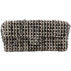 Chanel Vintage CC Chain Flap Bag Tweed East West