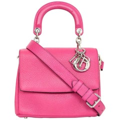 Christian Dior Pink Leather Mini Be Dior Flap Crossbody Bag