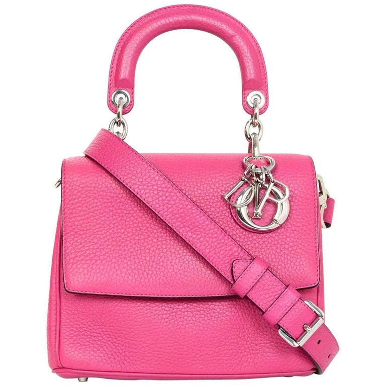 Christian Dior Pink Leather Mini Be Dior Flap Crossbody Bag