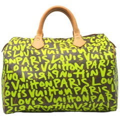 Louis Vuitton Speedy 30 Graffiti Green Limited Edition Stephen Sprouse Handbag