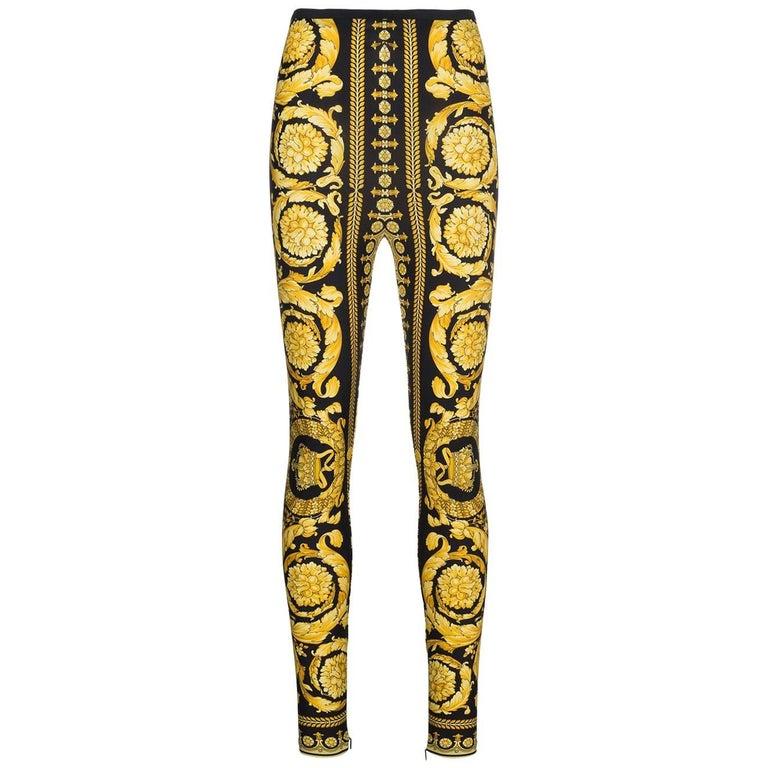 Versace Tribute Baroque leggings pants  For Sale
