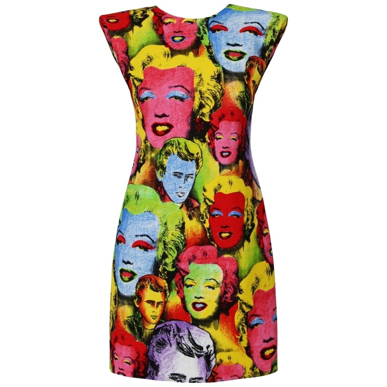 Versace Pop Art Mini  Dress 2018  Tribute To  Spring / Summer 1991  For Sale