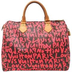 Louis Vuitton Speedy 30 Grifiti Pink Limited Edition Stephen Sprouse Handbag