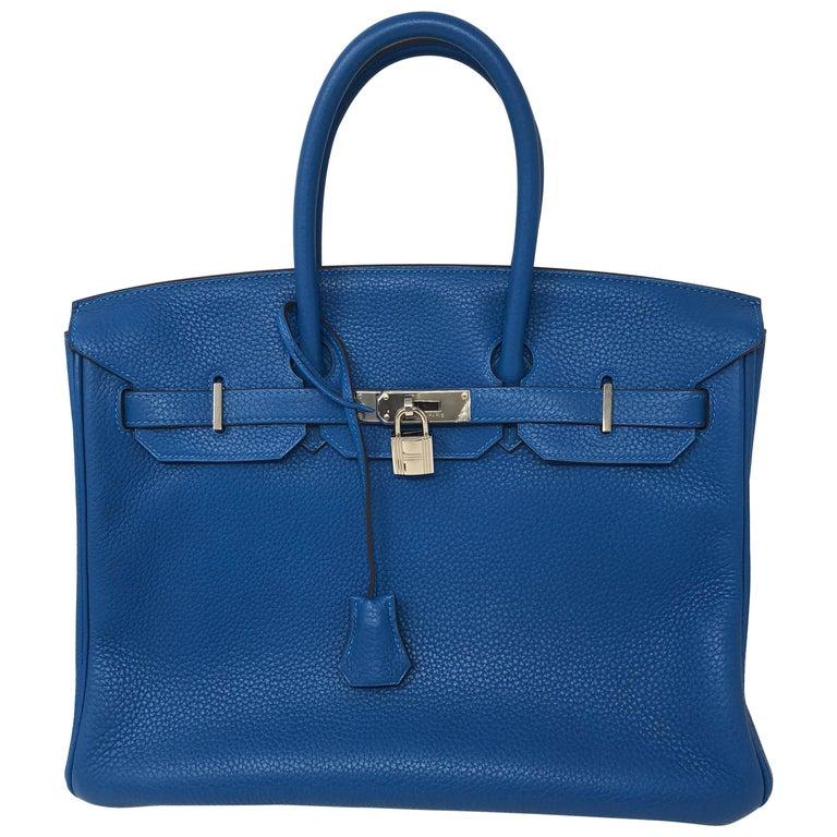 Hermes Mykonos Blue Birkin 35